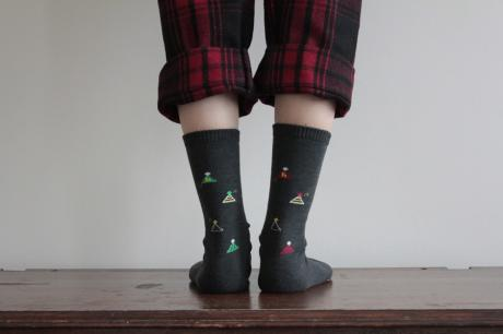 party hat socks(ウール混)